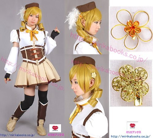 Cosplay Costumes Magical Girl clothes Tomoe Mami Soul Gem with M size 11-piece set Magical Girl Madoka Magica (japan (Cosplay Kostüm Tomoe Mami)