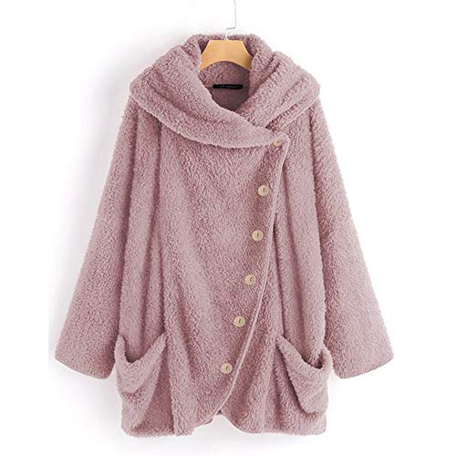 Solide Wolle Gabardine (iHENGH Damen Herbst Winter Bequem Mantel Lässig Mode Jacke Frauen Casual Solide Rollkragenpullover Große Taschen Mantel Mäntel Vintage Oversize Mäntel)