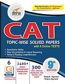 CAT Topic-wise Solved Papers by [Disha Experts]