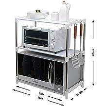 PENGFEI Estantes para soportes Estantería Cocina Baldas Horno Microondas  Utensilios De Olla Almacenamiento Multifunción Acero Inoxidable d3dc9386bce3