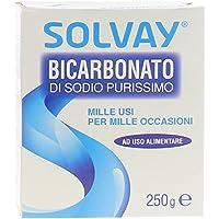 Solvay - Bicarbonato di Sodio, Purissimo, ad uso alimentare - da 250 g