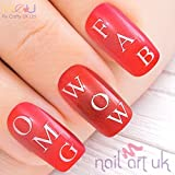 70 White Letter Alphabet 3D Adhesive Nail Art Stickers Decals - Personalised by My Crafty Nail Art