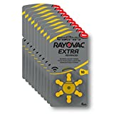 Rayovac Extra Advanced Batterie Acustiche Zinco Aria, Formato 10 Value Pack da 60 Batterie, Giallo