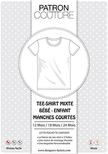 Pack 3Größen–12Monate/18Mois/24MOIS–Tee shirt Unisex Kurzärmliges