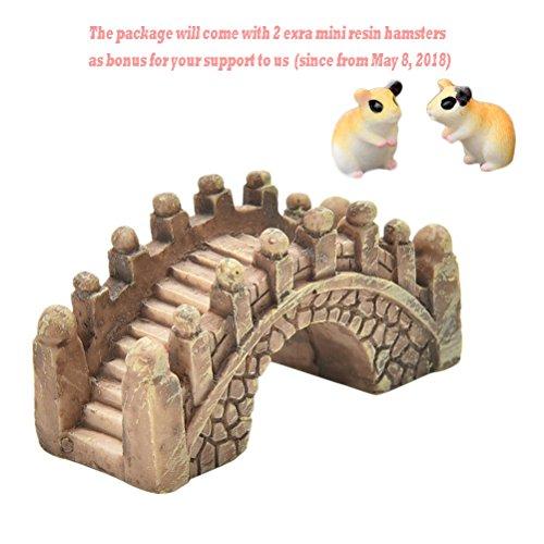 BESTIM INCUK 10 Pack Miniature Fairy Garden Bridge Ornament DIY Dollhouse Garden Decor Home Decoration