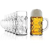 Stölzle-Oberglas 4533808045 ISAR Maßkrug 126,5cl, mit Füllstrich Bei 1l, 6 Stück