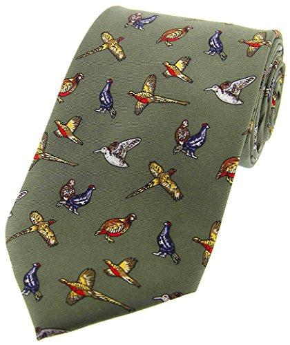 David Van Hagen Paese verdi Uccelli Paese seta Cravatte