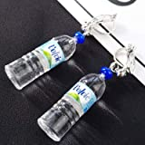10ccd8d2fbfd VVSBAOZI Crystal Pendientes Japonés y coreano inconformista personalidad  salvaje botella de agua mineral creativa forma lindo