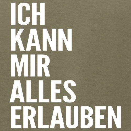 ICH KANN MIR ALLES ERLAUBEN - Herren T-Shirt - 13 Farben Khaki