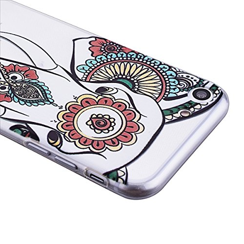 Coque iPhone 7, Etui iPhone 7 (4.7 Pouces), GrandEver Coque iPhone 7 Silicone Transparente Clair Back Case Attrape Rêve Motif TPU Bumper Cover Caoutchouc Doux Gel Couverture Coquille Rubber Gel SKin H éléphant