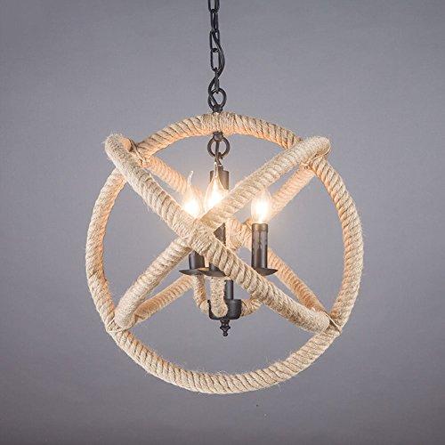 Seil Anhänger Neuerungen Seil,sphäre Retro Anhänger Beleuchtung Leuchte Für Wohnzimmer Esszimmer Café-deckenleuchte-d - Office Line Kollektion