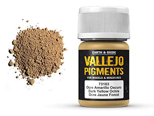 Vallejo Pigments 73103 Dark Yellow Ochre (35ml) -