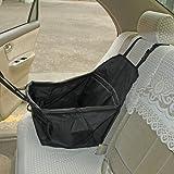 LAGUTE Auto Hundetransportbox -Transportkorb - Tiertragetasche- Transporttasche -Transportbox für Tier *Schwarz*