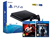 PS4 Slim 1Tb Konsole - 2 Spiele Bundle - Uncharted 4: A Thief's End