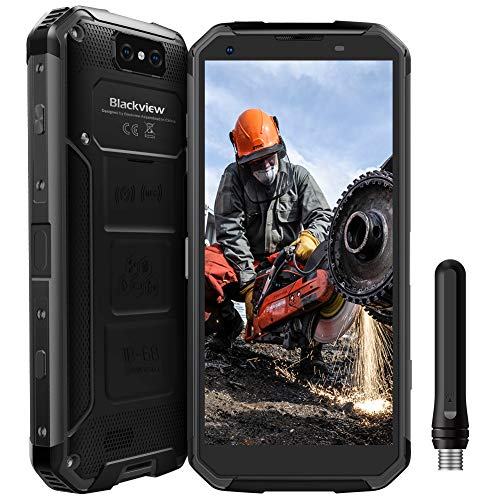 "Blackview BV9500Pro Robustes Handy, Walkie-Talkie IP68/IP69K Outdoor Handy ohne Vertrag 10000mAh mit Wireless Charging, 6GB+128GB Android 8.1 Smartphone, 5.7"" FHD+, 13MP+16MP, [4G Global] Schwarz"