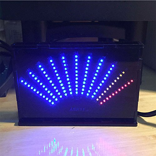 aiyima Füllstandsanzeige ask11 LED Musik Audio Spectrum Display VU Meter, Fächerförmigen Pointer Level Markierung Verstärker mit Fall