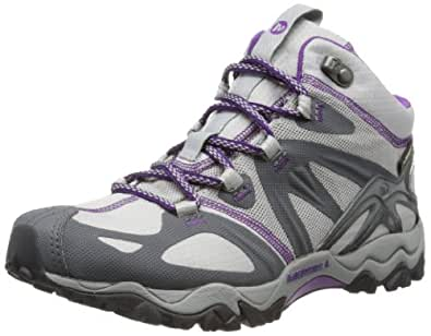 Merrell Grassbow Mid Sport Gore-Tex, Women's Lace-Up Trekking and Hiking Shoes - Grey (Charcoal), 3.5 UK