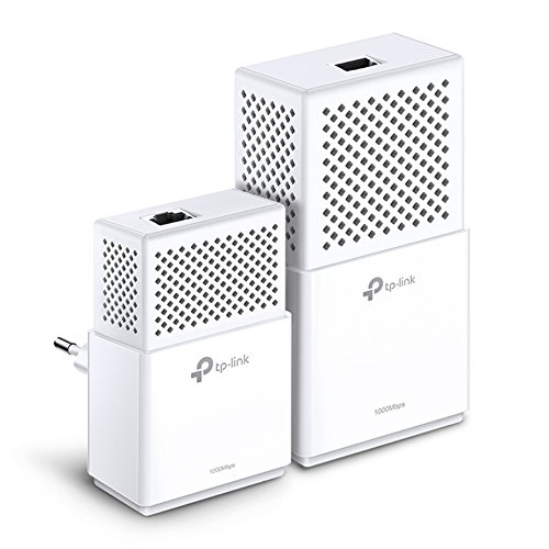 TP-Link TL-WPA7510 KIT AV1000 WLAN AC750 Gigabit Powerline Netzwerkadapter (Gigabit Ports, ideal für HDTV, energiesparend,Plug und Play, 2er Set)