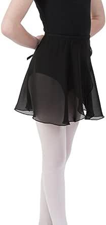Bezioner Girls Women Ballet Wrap Skirt Chiffon Dance Costume With Adjustable waist tie