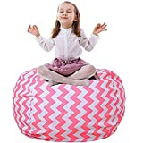 Stofftier Storage Sitzsack Kinder Weichen Beutel Stoff Stuhl Groß Kapazität Aufbewahrungbox für (Rosa Welle, 38')