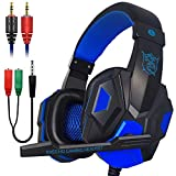 Xmowi 3.5 mm Wired Noise Isolation Gaming Headset and Audio Y Splitter Cable