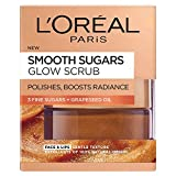 L'Oréal Paris Smooth Sugar Exfoliant visage et lèvres à base de cacao, 50 ml