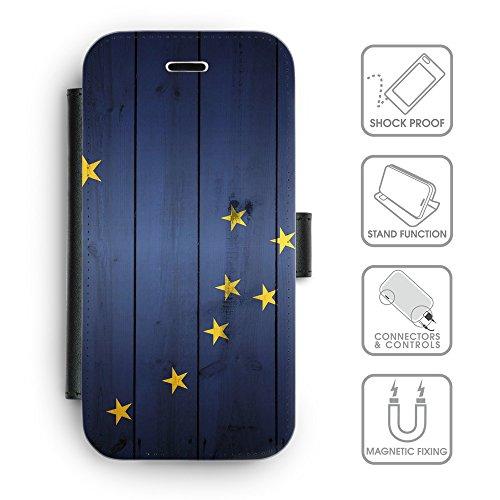 Delle cellule Phone Card Slot cassa del raccoglitore di cuoio // V00001552 effetto Alaska bandiera (Pronto Basamento Della Bandiera)
