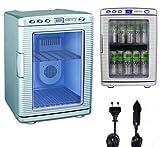 Mini Kühlschrank 20 Liter | Minibar | 12V oder 230V für Auto und Steckdose | Kühlbox | Getränkekühlschrank | Tischkühlschrank | Display LED Innen Beleuchtung | zusätzliche Wärmefunktion bis zu 60°|