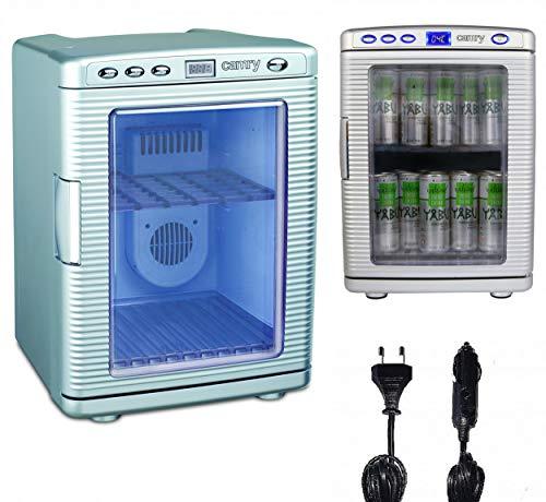 Mini Kühlschrank 20 Liter | Minibar | 12V oder 230V für Auto und Steckdose | Kühlbox | Getränkekühlschrank | Tischkühlschrank | Display LED Innen Beleuchtung | zusätzliche Wärmefunktion bis zu 60°| - Zusätzliche Beleuchtung