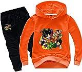 Silver Basic Dragon Ball Goku 3D Digitale Animale Bambino Felpa con Cappuccio Classico Pullover