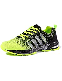 BUSL Zapatos de senderismo para mujer para mujer Unisex Pareja Zapatillas de moda casual Zapatillas de deporte atléticas respirables . fluorescent green . 36