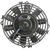 Boomboost Ventilateur de Refroidissement Universel de radiateur électrique Universel de Ventilateur de 8 Pouces 12V 24V pour Le condenseur Classique de Voiture de Muscle/Rue Rod CA/C