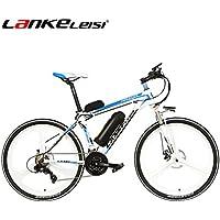 LANKELEISI MX3.8JY 26 Pulgadas Bicicleta eléctrica 48V 10Ah Litio E-suspensión Completa Shimano
