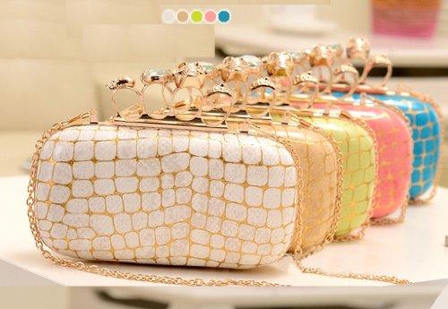 Damen neue Staubtuch Design-Handtasche von aimerfeel Dessous, Farbe: Elfenbein, grün, pink, beige Rosa