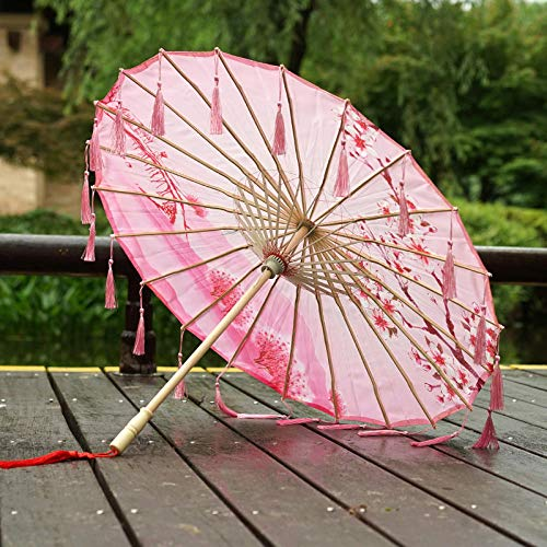 Ombrelli per decorazioni nozze hanfu fatto a mano costume fotografia puntelli ombrello nappa antico vento foto danza ombrello @a