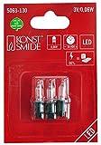 Konstsmide 5063-130 Ersatzbirne / für LED Innenbaumketten / 3V, 0,06W / 3er Blister / warm weiße Diode / grüne Steckfassung