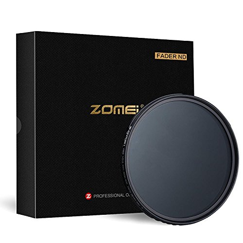 ZOMEI 72mm ND Filter Ultra Slim AGC Optisches Glas Profi Filter/Linsenfilter Fader ND2-400 Filter/Einstellbare Variable Dichte Neutral Grau ND2 bis ND400 Für DLSR Objektiv