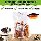 Alto-Petfood - 1000g Premium getrocknete Rinderkopfhaut | 100% Natur | Premium Qualität | Wiederverschließbarer Beutel - Naturkauartikel, Hunde Kausnack, Hundesnack, Kauartikel, Rind, Kopfhaut