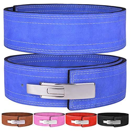Hawk Sports Hebelgürtel 10 mm Powerlifting Gürtel für Männer und Frauen Schnalle Strongman Kraftgewichthebergürtel, blau, M (32''-38'') -