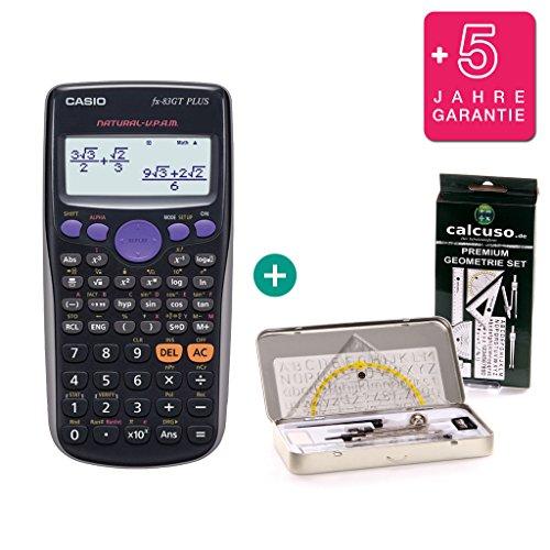 Preisvergleich Produktbild Casio FX 83 GT Plus - NEUES MODELL - neustes Modell der Casio FX 83 (82) ES Serie + 60 Monate Premium Garantie + Premium Geometrie Set