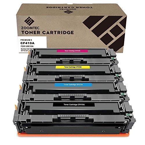 ZOOMTEC Compatibile con HP 410A CF410A CF411A CF412A CF413A Cartuccia toner compatibile per HP Color LaserJet Pro MFP M477fdn M477fdw M477fnw M452DN M452dw M452nw M377dw -Black, ciano, giallo, Magenta