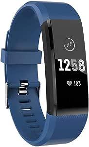 MASOMRUN Orologio Fitness Tracker per Donna Uomo Bambini, Impermeabile Cardiofrequenzimetro da Polso Smartwatch, Contapassi Calorie Activity Tracker Smartband con Monitoraggio Sonno