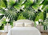(360X280CM0, Alte Zeitung 3D tapete - Moderne minimalistische frische Regenwald Pflanze Bananenblatt Garten Wandbild - Wallpaper Poster Wanddekoration von Bestwind
