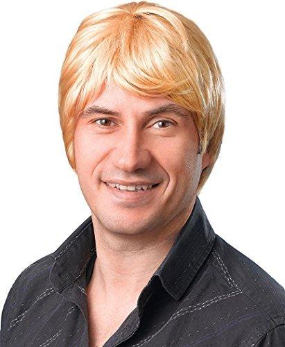 Herren Kleid Kostüm Party Kostüm Zubehör Shorts Künstliches Haare 70ER JAHRE Disco Perücke - (Blonde Haare Herren)