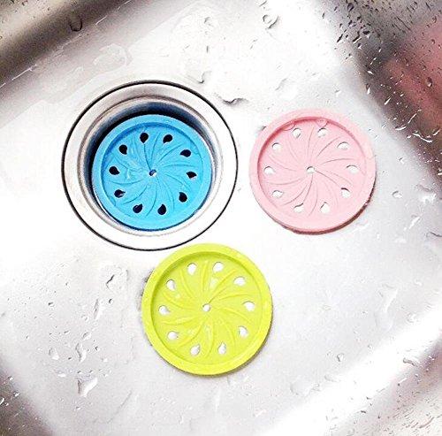 47,9cm Universal Silikon Ablaufrost, Badewanne filter- Küche Bad Abflusssieb Haarsieb Duschrinne Cover Trap (Farbe Random) (Badewanne-überlauf-drain Cover)