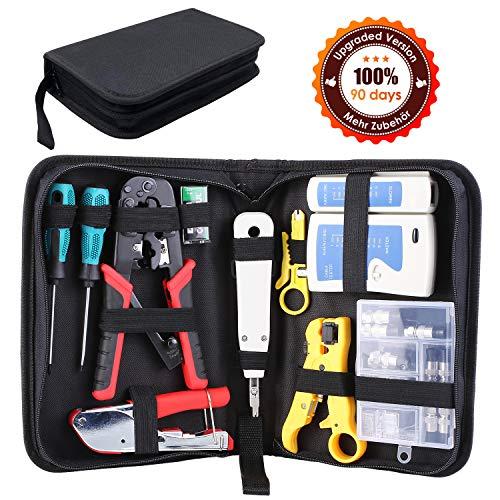 FIXKIT Netzwerk Reparaturwerkzeuge, Professionell Netzwerk Werkzeug Set Netzwerk-Tool-Kit, geeignet für DIY, Haushalt oder Fabrik (Neue Netzwerk Reparaturwerkzeuge)