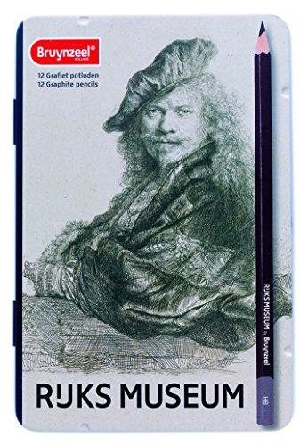 Bruynzeel -   Box 12 Grafitbleistifte: Rembrandt Selbstporträt