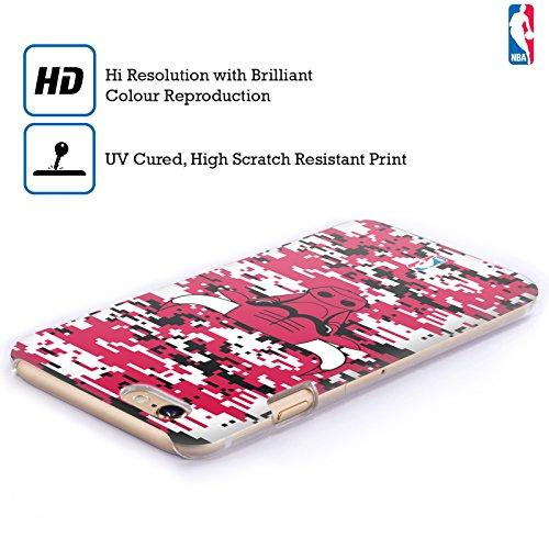 Offizielle NBA S&W Marmor Chicago Bulls Ruckseite Hülle für Apple iPhone 6 Plus / 6s Plus Digital Camouflage