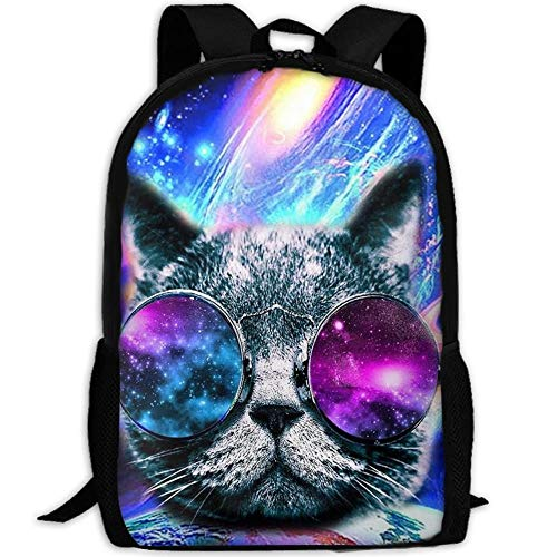 best& Stylish Cat In Space Laptop Backpack School Backpack Bookbags College Bags Daypack - Adrienne Oxford