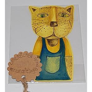 Lesezeichen aus Papier, Katze, Original